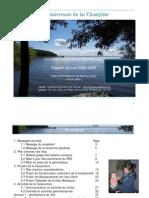 CBVBM - Rapport annuel 2008-2009
