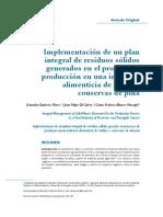 implementación de un plan integral de residuos solidos generados en el proceso de produccion en una industria alimenticia de salsas y conservas de piña