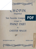 4 Mains Frederick Chopin - Ten Favorite Compositions for Paino Duet (Chester Wallis)