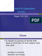 L4, 1.3 Independent & Dependent Clauses