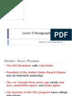 L3, 1.4 Paragraph Format