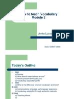 Vocabulary Module 2 Final