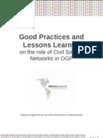 Good Practices in OGP- Networks Alianza Regional & Transparencia Internacional (WBI Word Bank Institute)