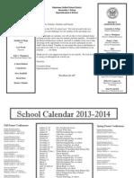 lincoln calendar 2013-2014