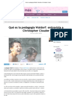 Qué es la pedagogía Waldorf_ entrevista a Christopher Clouder