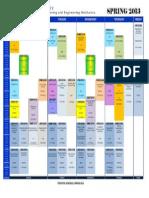 Class Schedule Spring 2013 New Version