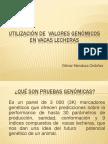 UTILIZACIÓN DE  VALORES GENÓMICOS EN VACAS LECHERAS