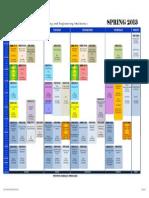 Class Schedule Spring 2013 Jan 16