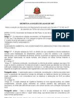DE 12.342-78 Código Sanitário Alteração DE 41913-97 (Assentamentos Urbanos)