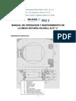 Manual de Operacion y Mantenimiento de La Mesa Rotaria Oilwell b 37.5