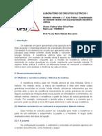 Relatório  laboratório de circuitos eletricos - 2° aula pratica
