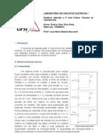 Relatório  laboratório de circuitos eletricos - 4° aula pratica