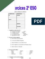 Ejercicios francés 2º ESO