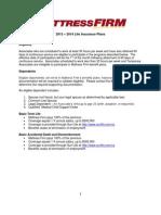 Life Insurance Plans 2013 - 2014 FINAL