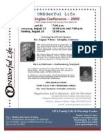 Onederful Life Conference Flyer