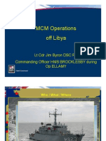 Royal Navy MCM Operations Misrata
