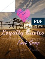Loyalty Quotes - 1st. Group