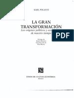 La Gran Transformacion Karl Polanyi