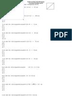 Prueba de Educación Matemática ecuaciones de primer grado