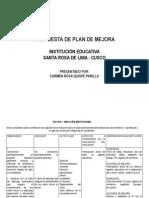 Plan de Mejoras -Cusco