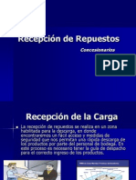 Recepcion de Repuestos