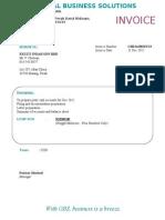 GBS Invoice