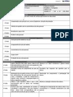 Planejamento Quinzenal 27 - 05 a 07-06-13