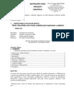 Modelo Para Redacao Cientifica DUB 090813
