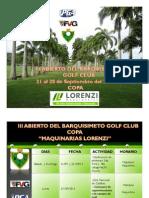 Información importante acerca del III Abierto Del Barquisimeto golf club