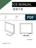 AOC TFT-LCD Color Monitor 152V Service Manual - ADE3800XL