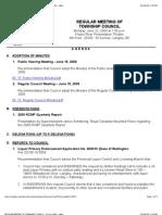 REG Agenda ToL Council 22 Jun 2009