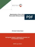 Methanol and gasoline blending - automotive