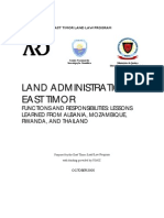 Land Administration in East Timor