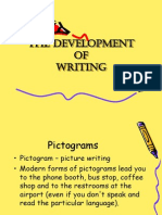 Topic 2 - Development of Writing
