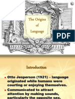 Topic 1 - Origins of Language