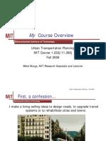 Urban Transportation Planning-MIT NOTES