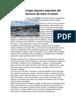 Las Huaringas Lagunas Sagradas Del Curanderismo de Fama Mundial