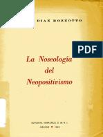 La Noseología del neopositivismo de Jaime Díaz Rozzotto