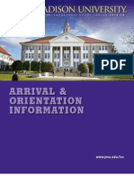 JMU ISC Arrival and Orientation Information