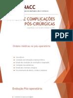 [Capacitação Interna] Manejo e Complicações Pós-Cirúrgicas.pptx