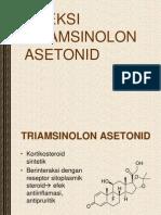 Blok INJEKSI TRIAMSINOLON ASETONID.ppt