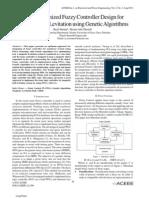 FPGA Optimized Fuzzy Controller Design forMagnetic Ball Levitation using Genetic Algorithms