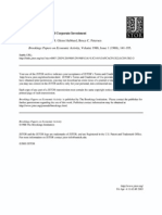 Fazzari - Financing Constraints and Corporate Investments