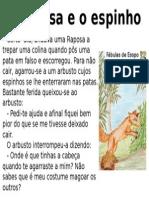 Fabula Esopo Raposa-espinho