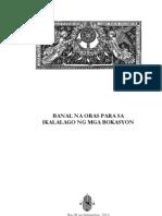 Booklet Banal Na Oras Para Sa Ikalalago Ng Mga Bokasyon