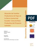 Situación de familias productoras de papa en la Sierra Central del Ecuador