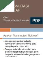 Tutorial Transmutasi Nuklear