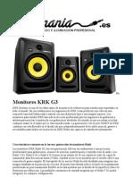 Altavoces Estudio Krk g3