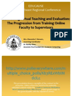Connecting Virtual Teaching and Evaluation