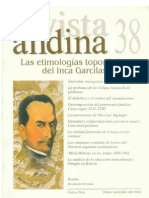 Etimologías del Inca Garcilaso